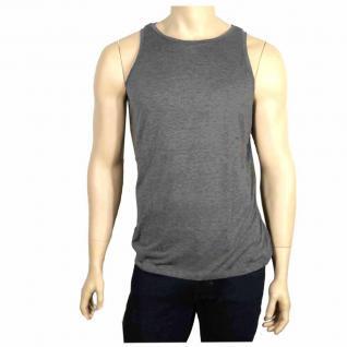 Authentic Style Herren T-Shirt Ärmellos Shirt Mittelgrau Gr. M