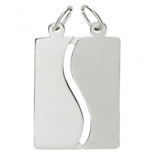 Basic Silber 29.1072S Damen Anhänger Partneranhänger Silber