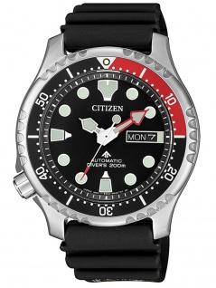 Citizen NY0087-13E Diver Uhr Herrenuhr Kautschuk Datum Schwarz