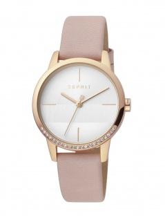 Esprit ES1L106L0055 Yen Uhr Damenuhr Lederarmband Rosa