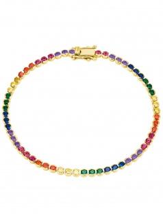s.Oliver 2027871 Damen Armband Sterling-Silber 925 Gold bunt 18 cm