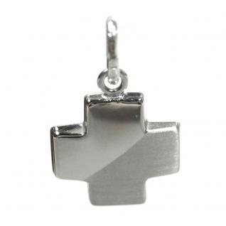 Basic Silber SKE51 Damen Anhänger Kreuz Silber