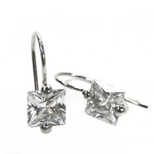 Basic Silber 02.EX658W Damen Ohrringe Silber Zirkonia weiß