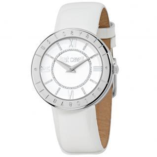 Just Cavalli JUST SHINY Uhr Damenuhr Lederarmband weiß