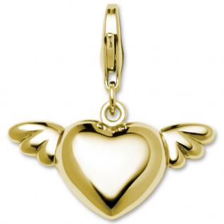 GOOIX GXC420 Damen Charms Herz Silber gold