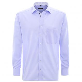 Eterna Herrenhemd Langarm Modern Fit Blau M/40 Hemd 8501/10/X37R