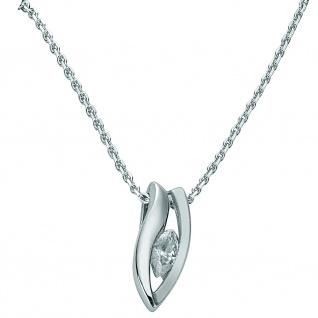 Basic Silber 21.EX576 Damen Collier Silber Zirkonia weiß 42 cm