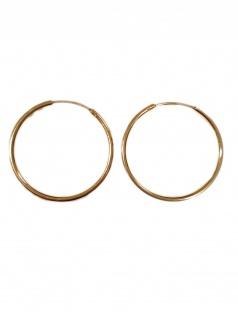 Basic Gold CR47 Damen Creolen 14 Karat (585) Gelbgold Gold