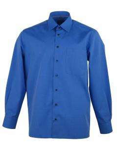 Eterna Herren Hemd Langarm Modern Fit 3072/16/X19P Blau M/40