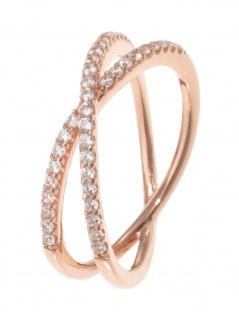 gooix 943-06736-560 Damen Ring Sterling-Silber 925 Rose weiß 56 (17.8)