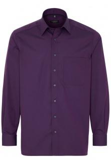 Eterna Herren Hemd Langarm Comfort Fit 3070/96/E18E Violett XL/43