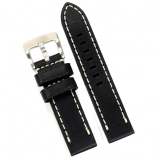 Condor Uhrenband 19606-24-10 Ersatzarmband 24 mm Sattelleder schwarz