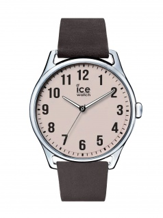 Ice-Watch 013045 Ice time Dark brown Beige Large Uhr Leder Braun