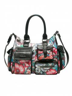 Desigual Handtasche Tasche Henkeltasche YANDI LONDON MEDIUM Mehrfarbig