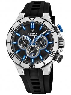 Festina F20449/2 Chronograph Uhr Herrenuhr Kautschuk Datum schwarz
