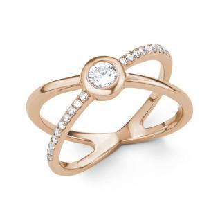 s.Oliver 2015146 Damen Ring Sterling-Silber 925 Rose Weiß 56 (17.8)