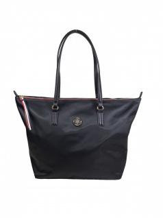 Tommy Hilfiger Damen Handtasche Tasche Shopper POPPY Tote Schwarz