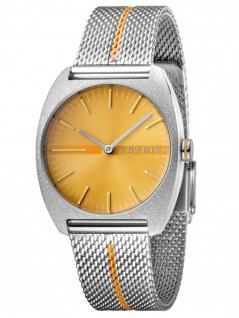 Esprit ES1L035M0065 Spectrum Orange Stripe Mesh Damenuhr Edelstahl