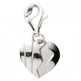 Basic Silber 22.VX430 Damen Charms Herz Silber