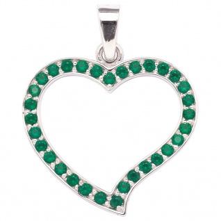 Tom Hill 21.9732.1 Damen Anhänger Herz Silber Grünachat grün