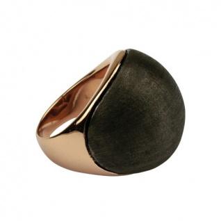 Quoins Damen Ring By Q Exclusive rose/dunkelgrau 58 (18.5) - Vorschau 1