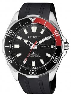 Citizen NY0076-10E Automatik Uhr Herrenuhr Kautschuk Datum schwarz