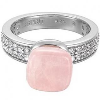 Esprit ESRG91743A Damen Ring Silber pure rose Rosenquarz Gr. 56/18, 0