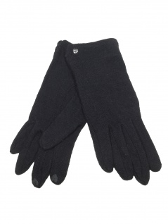 Esprit Damen Handschuhe Touchscreen Felted Gloves L Schwarz 099EA1R001
