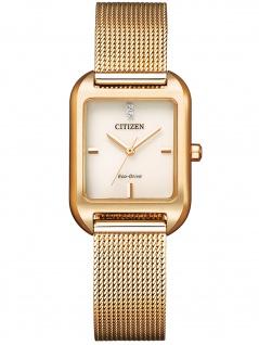 Citizen EM0493-85P Eco Drive Uhr Damenuhr Edelstahl rose