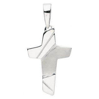 Basic Silber 27.9050S Herren Anhänger Kreuz Silber