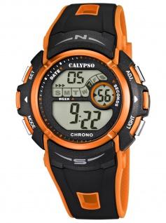 Calypso K5610/7 Chrono Uhr Herrenuhr Kautschuk Datum Alarm schwarz