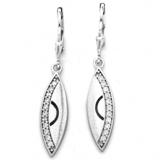 Basic Silber 02.1124 Damen Ohrringe Silber Zirkonia weiß - Vorschau 1