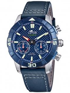 Lotus 18811/3 CONNECTED Hybrid Uhr Herrenuhr Lederarmband Datum blau