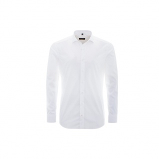 Eterna Herrenhemd Langarm Slim Fit Weiß L/42 Hemd 8424/00/F18P