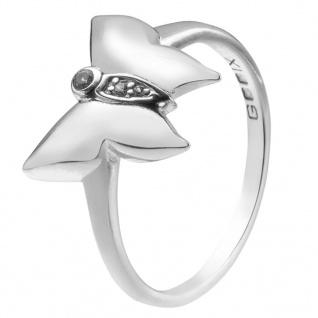 GOOIX 943-06360 Damen Ring Schmetterling Silber Weiß 56 (17.8)