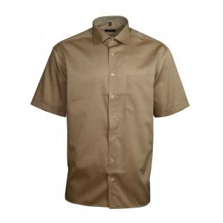 Eterna Herrenhemd Kurzarm Comfort Fit Beige Hemd Hemden XXXL/47