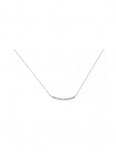Gerry Eder 21.2050 Damen Kette Silber Weiß 45 cm