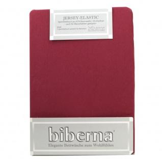 Biberna 77866-546 Jersey Elastic Spannbetttuch Weinrot 180x200 200x220