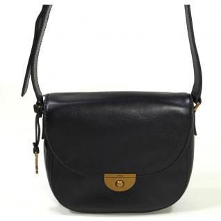 Fossil Emi Saddle Bag Schwarz ZB6851-001 Handtasche Tasche Leder