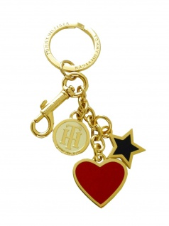 Tommy Hilfiger Schlüsselanhänger Heart and Star Key Fob Gold