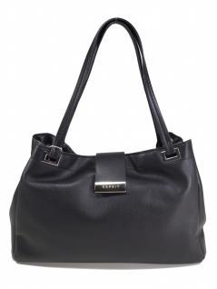 Esprit Damen Handtasche Tasche Henkeltasche Carmen Shopper Schwarz