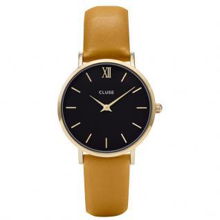CLUSE CL30035 Minuit Gold Black/Mustard Uhr Damenuhr gelb