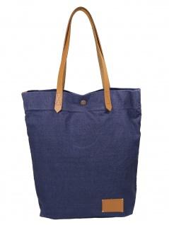 Esprit Damen Handtasche Tasche Henkeltasche Daryl Shopper Blau