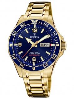 Festina F20479/2 Automatik Automatic Uhr Herrenuhr Datum gold