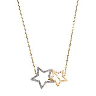 GOOIX 917-06374 Damen Collier Sterne Gold Weiß 45 cm