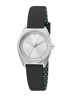 Esprit ES1L100L0015 Slice Dot Uhr Damenuhr Lederarmband Schwarz