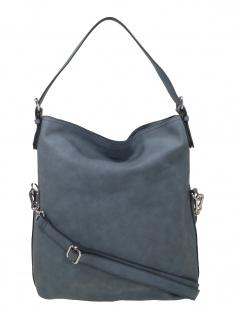Esprit Damen Handtasche Tasche Schultertasche Venus flap Hobo Grau