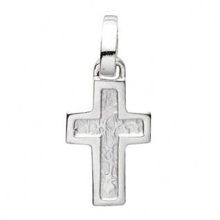 Basic Silber 27.0015S Damen Anhänger Kreuz Silber