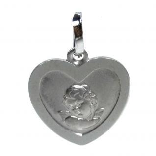 Basic Silber 22.218 Kinder Anhänger Schutzengel Herz Silber
