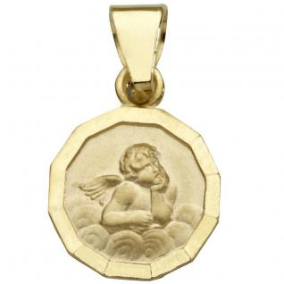 Basic Gold EN02 Kinder Anhänger Schutzengel 14 Karat (585) Gelbgold